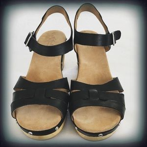 8a175a331b37 Clarks Shoes - CLARKS Ledella Trail Heeled Sandal Black Size 9